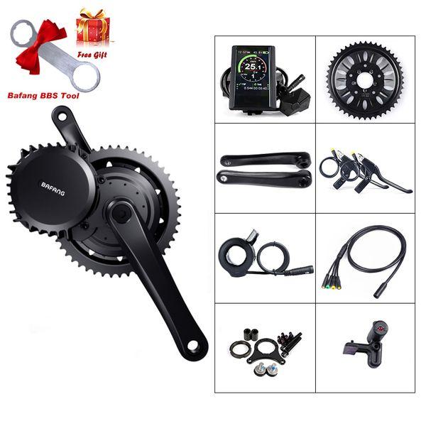 Motor de mando Kit de conversión bicicleta eléctrica Bafang 52V 1000W 68MM BBS03 BBSHD Mediados para bicicleta de E bricolaje 8FUN potente motor 68MM