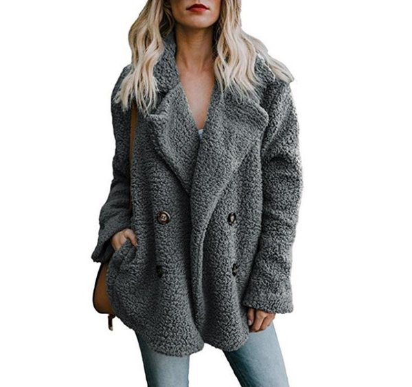 High Quality Wholesale Long Sleeve Women Outerwear new design women korean style fashion winter outerwear teddy coat clothing Ypf200