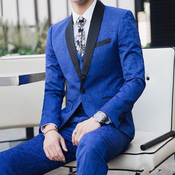 Tuxedos Garçons Acheter Homme Mariage Mariage Veste Un Blazer Meilleur Hommes Chaude Châle Bouton Revers Vente Marié Costumes Dîner Bal D'honneur QdCsBthrx