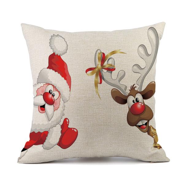 Рождественский диван-кровать украшения дома фестиваль наволочка наволочка 43cmx43cm