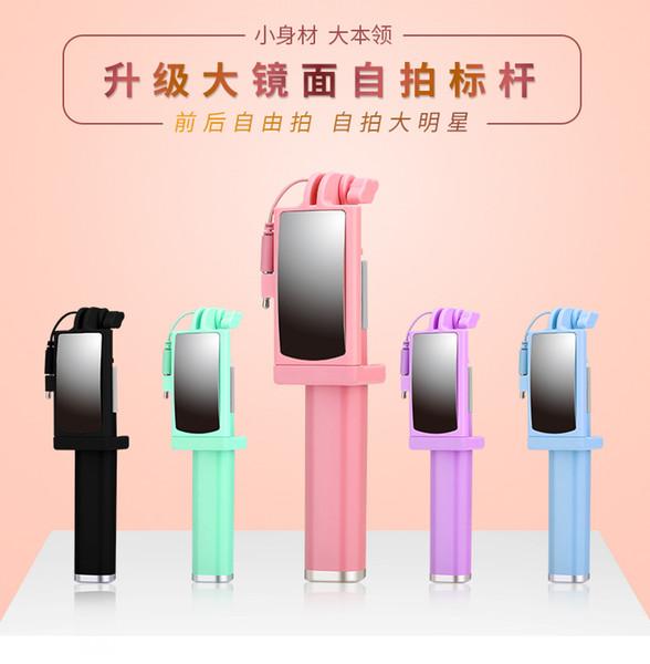 Mini Selfie Stick-Stange mit liniengesteuertem Rückspiegelklappen für die allgemeine Fotografie von Apple Edelstahl-Teleskop-Kommunikatoren