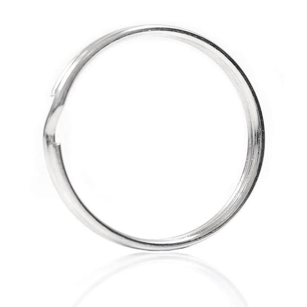 10X Quality 50Mm Keyring Split Ring Set Heavy Duty Large Nickel Key Loop Sprung Hoop