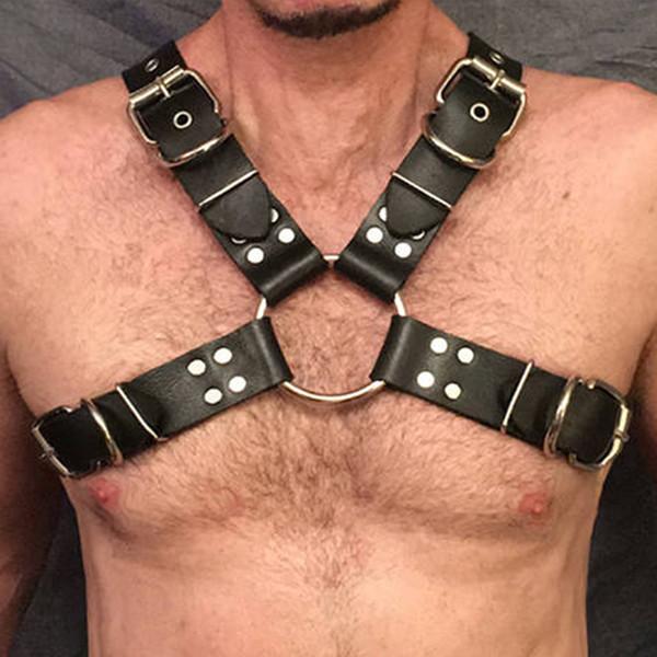 UYEE Sexy Harness кожаный ремешок для мужчин Высокое качество Широкий Белье Подтяжки Пояс пастельный гот Femdome кожаные ремни LM-035