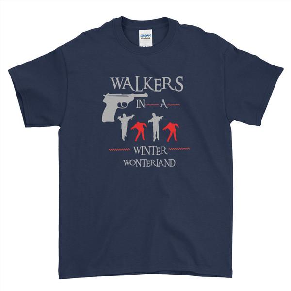 Уродливые с Рождеством Ходячие мертвецы зомби мужские женские дети футболки смешно бесплатная доставка унисекс случайные