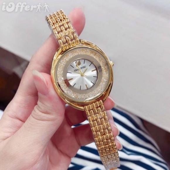 Men women Fashion luxury Swarovski quartz watch watches 15