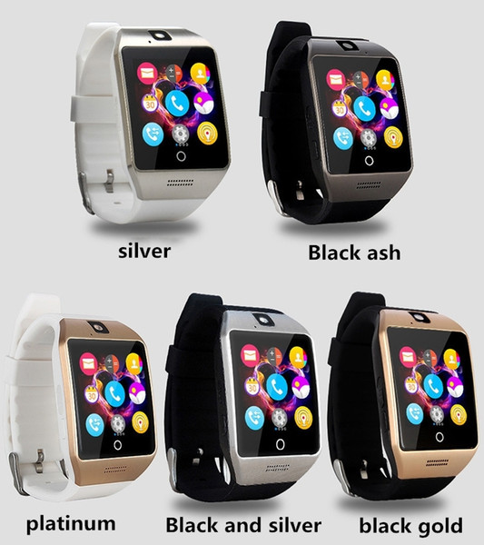 best selling Hot Q18 smart watch watches bluetooth smartwatch Wristwatch with Camera TF SIM Card Slot   Pedometer   Anti-lost   for apple android phones