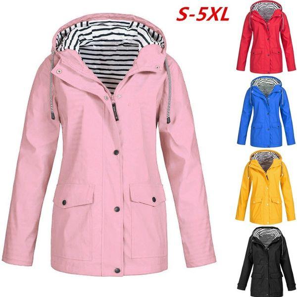 2018 New Fashion Popular Women Solid Waterproof Sunscreen Tracksuits Sports Coat Warm Autumn Jacket Outdoor Workouts Stripe Fall