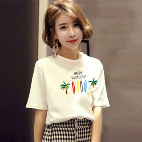 2019 New Women T-shirt Short Sleeve Summer Funny T Shirts Fashion brand Print female T shirt Japanese Women Tops Tees
