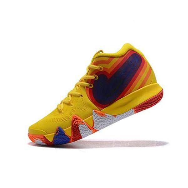 Kyrie4 Erwin 4s chaussures de loisirs simplifiées baskets résistantes à l'usure baskets multicolores pour le jogging en plein air, chaussures de ville élégantes