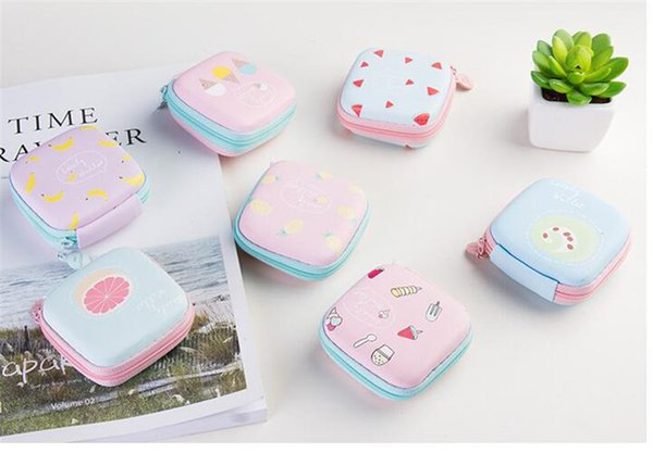 New Housekeeping Finishing Containers Organizer Travel Phone Power Charger Headphone Cable Digital Storage Box Square Headset Pouch Bags