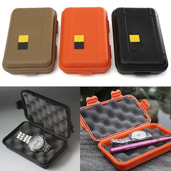 Открытый EDC Водонепроницаемая коробка передач Sport противоударный водонепроницаемый печать Box Wild Выживание хранения Box 3 цвета ZZA1640