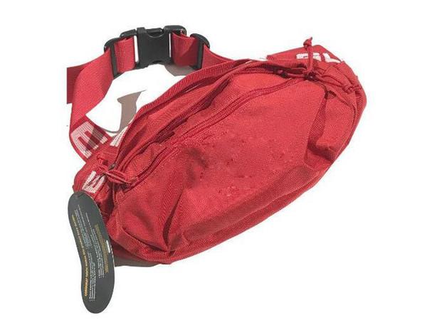 Diseñador bolso de la cintura Negro Rojo 18SS 44a Moda Unisex Paquete de Fanny Moda Cintura Hombres Lienzo Hip-Hop Cinturón Bolso Hombres Bolso de hombro