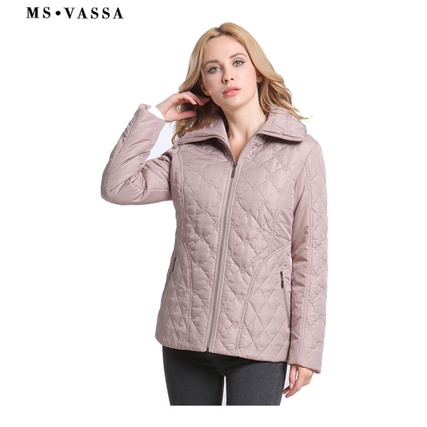 2019 Ms Vassa 2019 New Women Plus Size Parkas Spring Padded Casual Coats Classic Sandwich Quilted Jacket 7xl Ladies Outerwear From Sugarlive 79 27