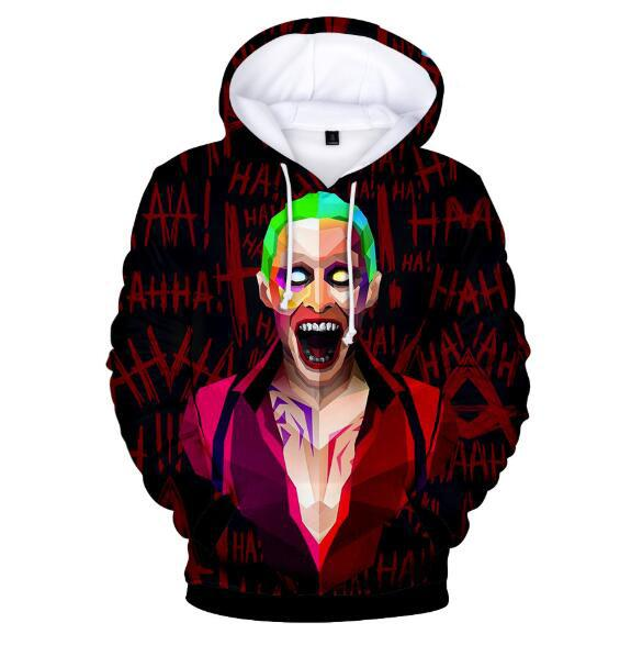 New Mens Hoodies Haha joker hoodie cross-border loose hooded sweater Men's Sweatshirt Casual Skate Tracksuit Rock Pullover For Sale