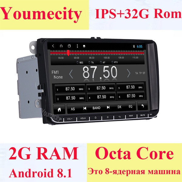 Youmecity Android 8.1 Car DVD Video Gps player for VW Volkswagen Transporter T5 EOS Touran Scirocco Sharan Bora Jetta Head Unit