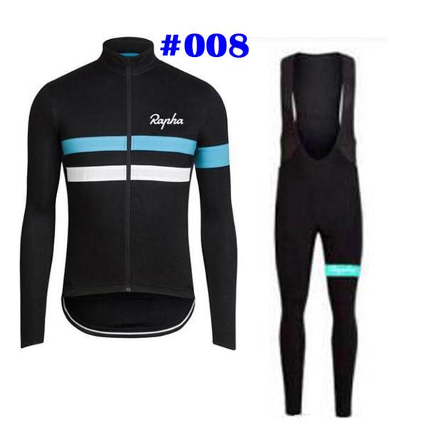 Rapha Takım SIDI Takım Bisiklet Uzun Kollu forması (önlük) pantolon mens hızlı kuru Ropa ciclismo MTB elbise giyim yarış setleri