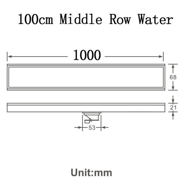 100cm Mid Row Water
