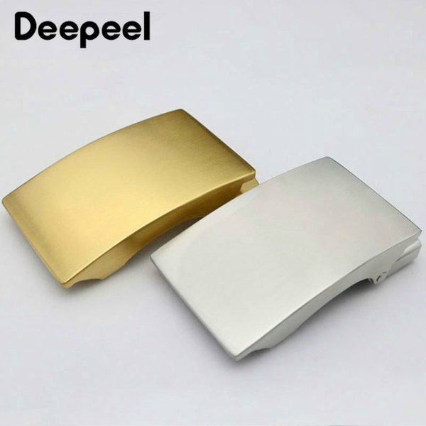 Deepeel 36mm Stainless Steel Men's Belt Buckle Without Teeth Automatic Buckle Head DIY Business Casual Leather Craft Accessories YK001