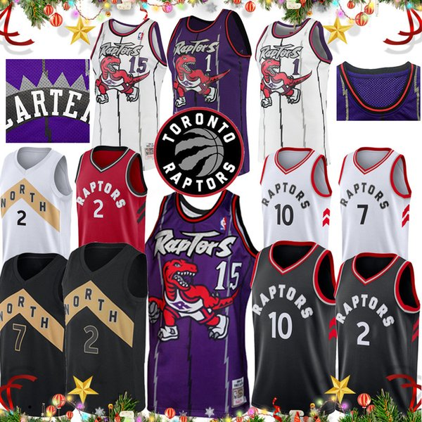 new product 45603 c1a3a Vince 15 Carter Raptors Jersey Toronto Basketball City Top Edition Tracy 1  McGrady Kyle 7 Lowry Retro Kawhi 2 Leonard Demar 10 DeRozan UK 2019 From ...