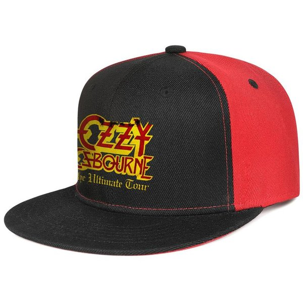 Ozzy Osbourne Ultimate Sin Tour negro para hombre y para mujer gorra de béisbol con borde plano, equipado con deportes personalizados, equipado con el mejor fl original