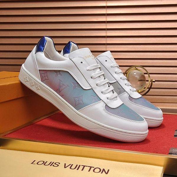 LujoDiseñadorDiseño LV alta calidad de los hombres de los zapatos ocasionales de lujo zapatillas de deporte de ocio aptitud atlético Chaussures de Deportes Pour Hommes mí