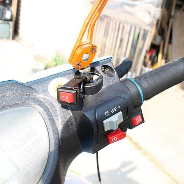 12V Moto impermeabile manubrio fendinebbia Spot Spot On Off Switch Accessori auto universali neri in lega di alluminio