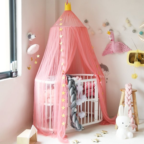 Kids Teepee Tents Children Play House Cotton Bed Tent Canopy Foldable Crib Tent Baby Room Decor Birthday Gifts Photography Props