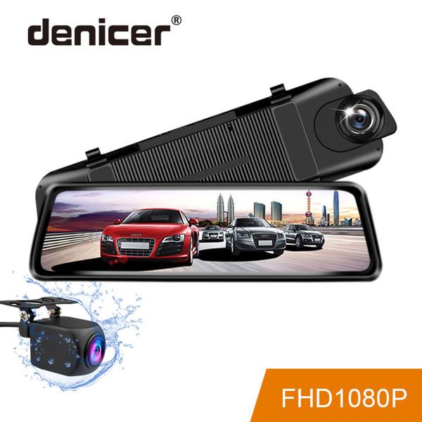 """denicer Car DVR 9.35"""" Stream RearView Mirror Full HD 1080P Dash Cam Camera Dual Lens Video Recorder Auto Registrar Dashcam"""