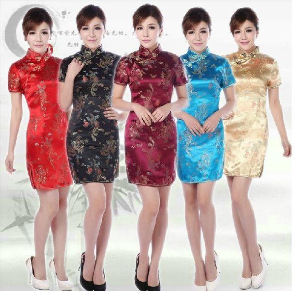 2019 Frauen Sommer Traditionelle chinesische Kleidung Cheongsams Partei chi-pao cheongsam Qipao