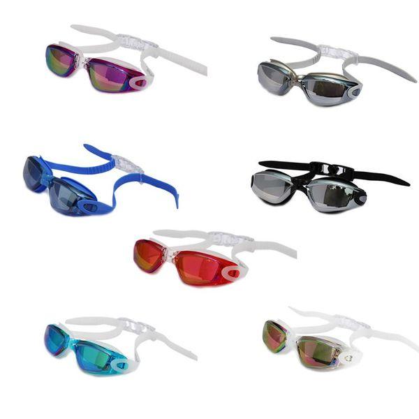 Adult Swimming Goggles Waterproof Anti-Fog UV Resistant Swim Glasses Elastic Adjustable Headband Eyewear Soft Silicone Pad