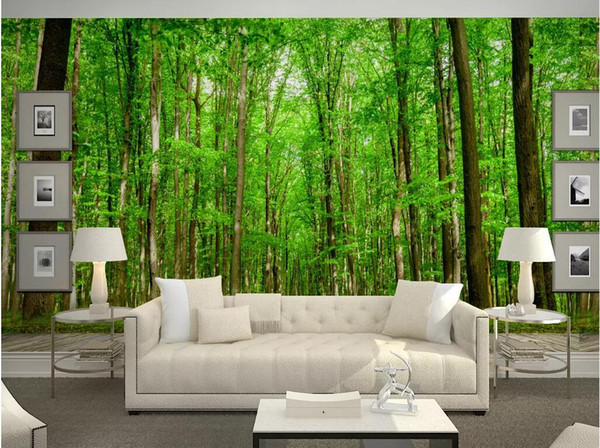 WDBH 3d wallpaper custom photo on a wall Nature green forest background wall living room home decor 3d wall murals wallpaper for walls 3 d