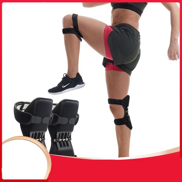 New respirável antiderrapante apoio conjunto Joelheiras Powerful Rebound Força Primavera do joelho Power Booster joelho Ferramenta Cuidados Pads