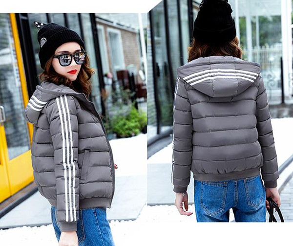 Free Shipping Autumn And Winter Short Women Coat Casual Slim Thick Parkas Winter Jackets Female Plus Size S-3XL