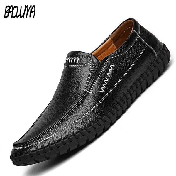 Fashion New Leather Slip On Mens Driving Moccasin Loafer Soft Casual Shoes