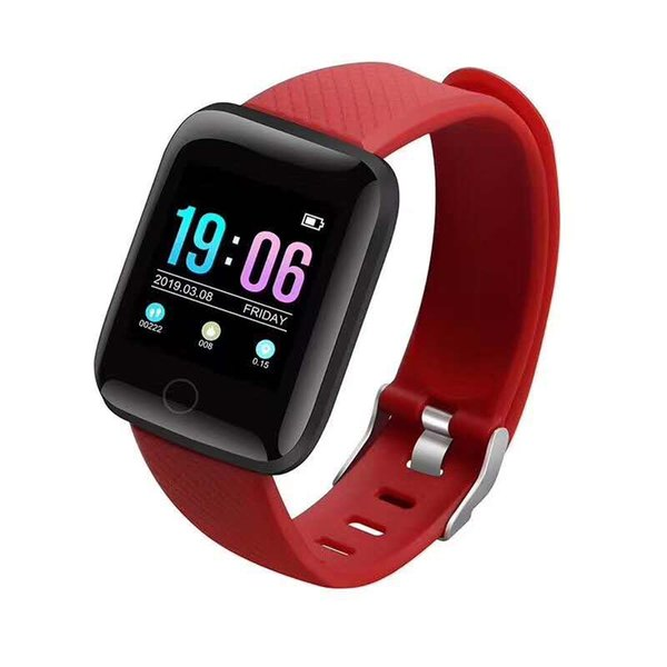 116plus Color Touchscreen Smart Wristband Heart Rate 1.3 Inch Large Screen Blood Pressure Sleep IP67 Waterproof Smart Wristband