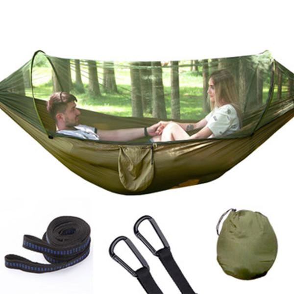 Açık Cibinlik Hamak Paraşüt Çadır Taşınabilir Bahçe Kamp Asılı Yüksek Mukavemetli Uyku Salıncak Uyku Yatak 250x120 cm