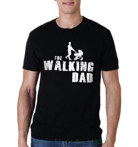 Nueva camiseta de los hombres divertidos para caminar el día del padre papá, cumpleaños masculino Harajuku Top Fitness marca de ropa