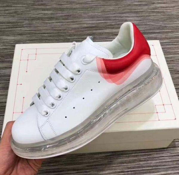 Nova qualidade 20ss designer da marca almofada de Vácuo Sapatos casuais oversized sapatilha de borracha único tênis de camurça Marca Plataforma de Couro Ocasional op40