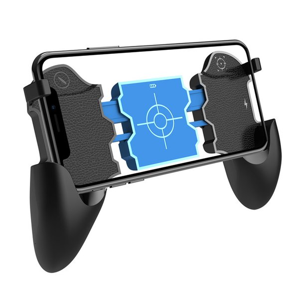 Teléfono móvil Gamepad Joystick Controller con 4.2 Bluetooth para iPone Gaming Pads 180mah PUBG Ultra-Portable Handle Grip Holder Aim Trigger