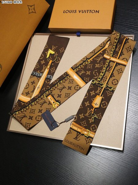 Luxus Designer Seide HANDTASCHE Tasche Schal Stirnbänder Neue Marke Frauen Seide Scraves 100% Bestnote Seide Tasche Schal Haarbänder 8x120cm