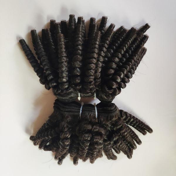 Afro viziosa taglio di capelli corto 8-12inch brasiliana dei capelli umani peruviani europea trama vergine Bella remy indiani di estensione dei capelli in azione