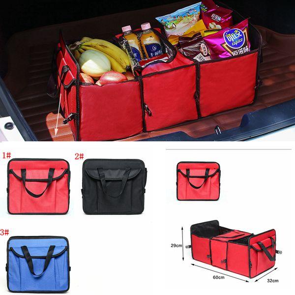 3 stilleri Katlanabilir Araç Saklama Çantası Araba Kamyon Organizatör Sepet oyuncak çeşitli eşyalar Konteyner Ile Soğutucu Ve Yalıtım Araba Organizatör FFA2176