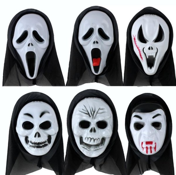 One Piece Halloween Sream Face Mask Horrible Death Ghost Theme Costumes Plastic Mask Classic Holiday Costume Accessories