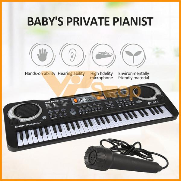61 chiavi elettroniche Piano Keyboard Piano flessibile con microfono digitale strumento di musica precoce strumento educativo per i bambini dei capretti