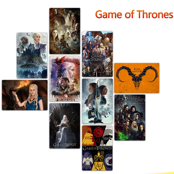 Wholesale Game of Thrones Metal Signs Tin Painting Home Decor Posters Crafts Supplies Wall Art Picture 20*30cm Bar, Cafe, KTV Wall Decor