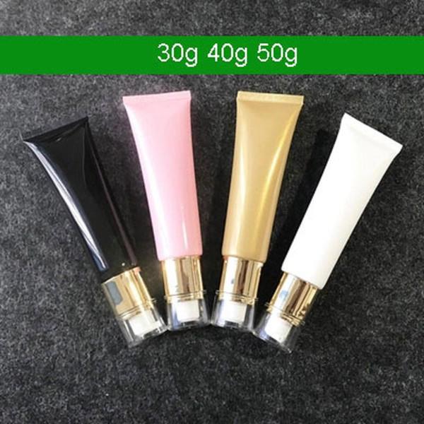 Pompa 50g 300pcs colorato Tubo cosmetico spremere il nuovo arrivo, lozione crema di ricarica imballaggio tubo morbido con pompa lozione