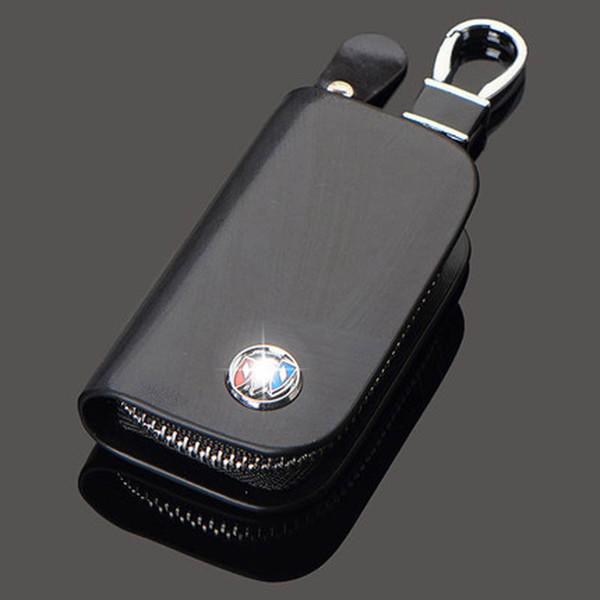 Porte-clés de voiture en cuir véritable sac pour Buick bmw toyota nissan volkswagen vw audi Lexus Chevrolet Mazda Hyundai auto Porte-clés