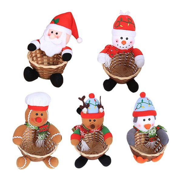 navidad 2019 Christmas Decoration Large Size Candy Basket Desktop Decoration Kid Candy Basket Christmas Decorations For Home