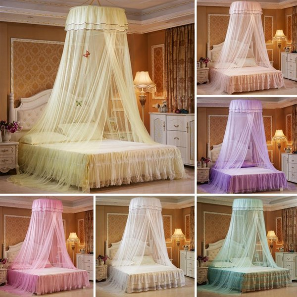 Kid Princess Crib Netting Canopy Bed Curtain Round Dome Hanging Mosquito  Net Curtain Play Tent Bedding For Baby Kids Playing Hom Baby Crib ...