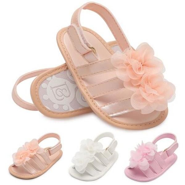 Été floral bébé Mocassins Doux Premier Walker Chaussures filles chaussures Bébé Sandales Princesse Fleur Infant Nouveau-Né bébé chaussures de designer FJ268